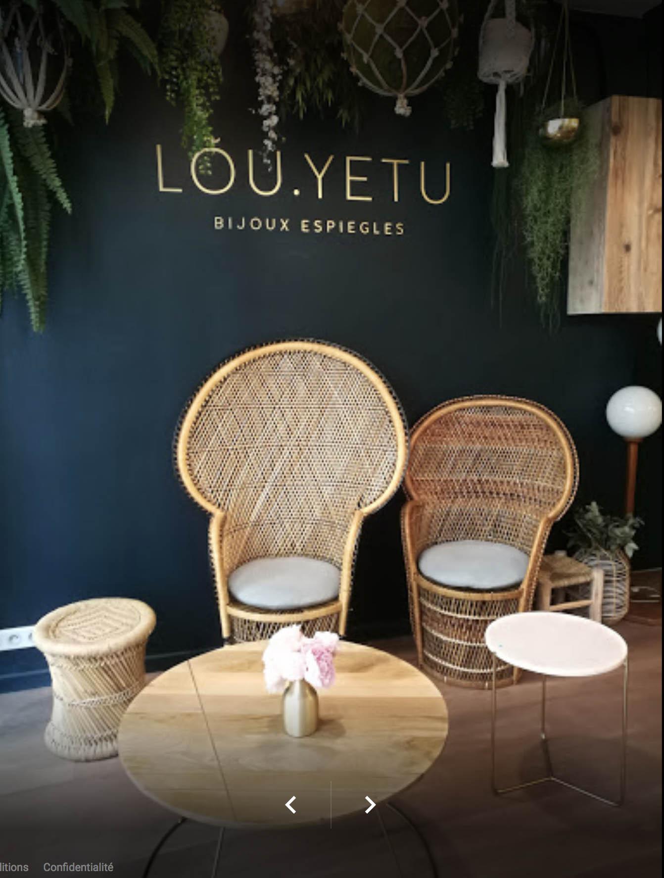 Intérieur de la boutique Lou.Yetu, à Paris